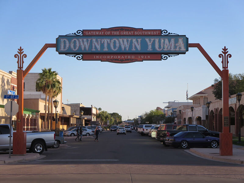 Heading to Historic Downtown Yuma | Friendly Acres RV Resort